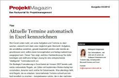 Beitrag in ProjektMagazin 03/2012: Aktuelle Termine automatisch kennzeichnen