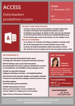 Download des Flyers zum Access-Workshop
